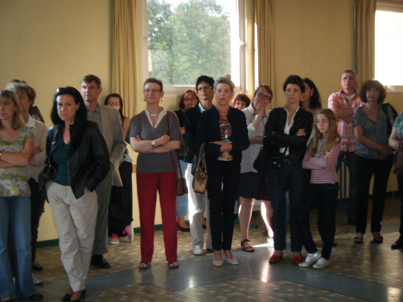 Une audience très attentive...